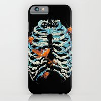 fish iPhone & iPod Cases featuring FISH BONE  by Huebucket