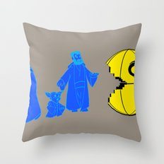 Thats no moon its a... oh hell run!! Throw Pillow