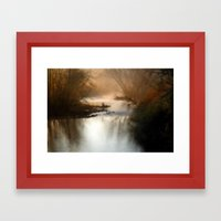 Foggy Alum Creek On A Ch… Framed Art Print