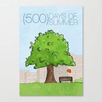 500 Days Of Summer Canvas Print
