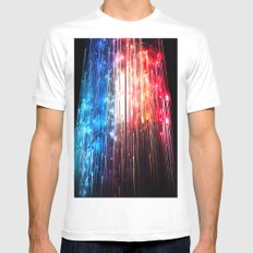 SUPERLUMINAL Mens Fitted Tee SMALL White