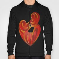 Lovers Kiss And Their Bodies Form A Love Heart  Hoody