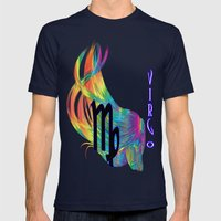 Virgo Mens Fitted Tee Navy SMALL