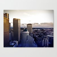 Seattle Plate I Canvas Print