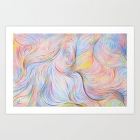 Wind I - Colored Pencil Art Print