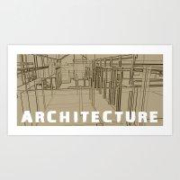 Architecture - Beige Art Print