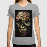 Smyrna Skull Womens Fitted Tee Tri-Grey SMALL