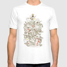 Bad Tempered Rodents Mens Fitted Tee White SMALL