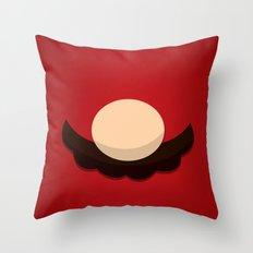 Red Face Throw Pillow