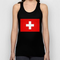 Flag of Switzerland - Authentic 2:3 scale version Unisex Tank Top