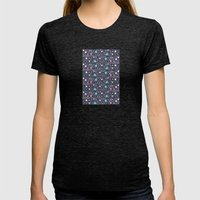 dawn to dust Womens Fitted Tee Tri-Black SMALL