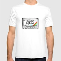 Cassette tape Mens Fitted Tee White SMALL