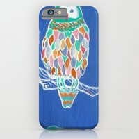 iPhone & iPod Case featuring Colorful Owl by Alex Boucher Art
