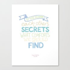 Each other's secrets Canvas Print