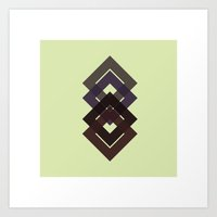 #7 Diamond-d-d-d – Geometry Daily Art Print