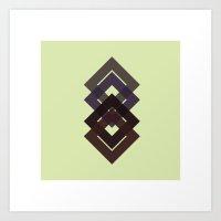 #7 Diamond-d-d-d – Geo… Art Print