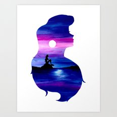 Ariel Double Exposure Art Print