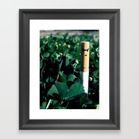 Sniper Cigarette Framed Art Print