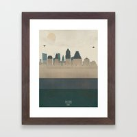 Austin Texas Framed Art Print