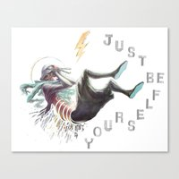 Just be yourself Canvas Print