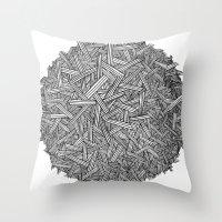Circle / Lines / Globe Throw Pillow