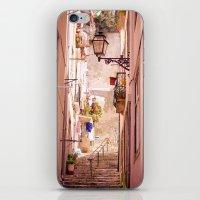 the narrow street in lisbon iPhone & iPod Skin