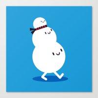 snowman walk Canvas Print