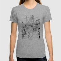Kyoto - The Old City Womens Fitted Tee Athletic Grey SMALL