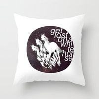 Get Lost... Throw Pillow