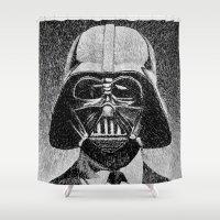 Darth Vader portrait #2 Shower Curtain