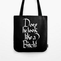 Pulp Calligraphy Tote Bag
