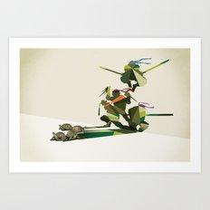 Walking Shadow, Turtles Art Print