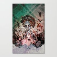 IN HER VICTORY GARDEN Canvas Print