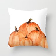 Throw Pillow featuring Orange Pumpkin Patch by Craftberrybush