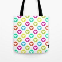Colorful hearts  Tote Bag
