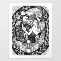 The Sailor And The Queen Art Print