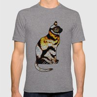 CAT TIGER Mens Fitted Tee Tri-Grey SMALL