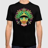 Xochiquetzal Mens Fitted Tee Black SMALL