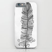 Black and White Feather Zen iPhone 6 Slim Case