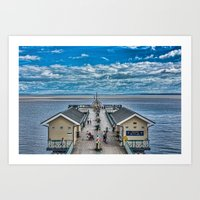 View Over The Pier Art Print