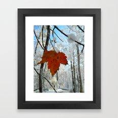 The Last of Autumn  Framed Art Print
