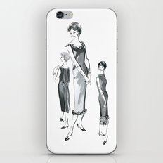 Vintage 1961 Commercial Art Drawing of Three Fashion Models iPhone & iPod Skin