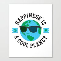 Happiness Is A Cool Plan… Canvas Print