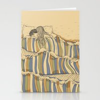waves Stationery Cards featuring Ocean of love by Huebucket