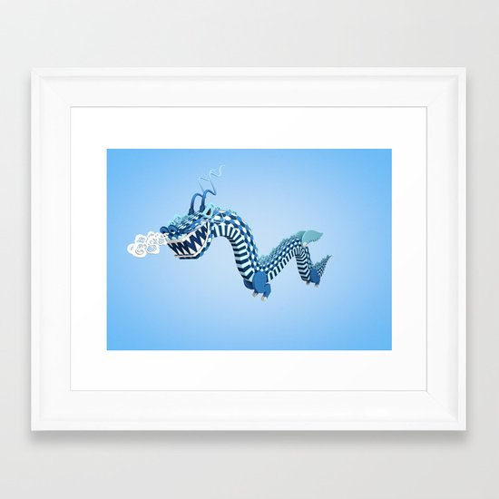 Dragon-Air Framed Art Print