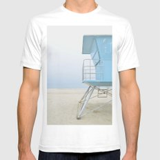 mood - minimalist SMALL White Mens Fitted Tee