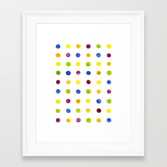 Candied Polka Dots Framed Art Print