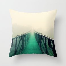 suspension bridge Throw Pillow