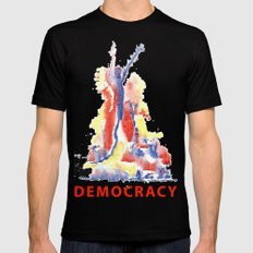 Democracy Mens Fitted Tee Black SMALL