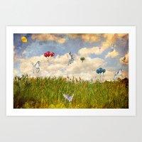 Pegasus and Balloons Art Print